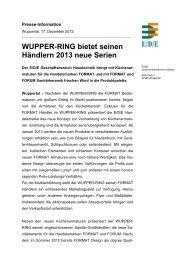 WUPPER-RING bietet seinen Händlern 2013 neue Serien - E/D/E ...