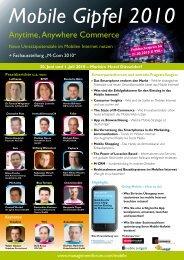 Mobile Gipfel 2010 - Management Forum der Verlagsgruppe ...