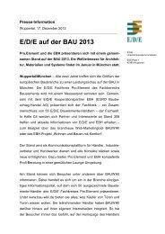 E/D/E auf der BAU 2013 - E/D/E Einkaufsbüro Deutscher ...