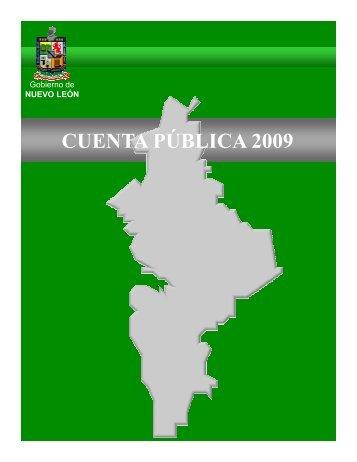 CUENTA PÚBLICA 2009 - Gobierno del Estado de Nuevo León