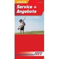 Service + Angebote Service + Angebote - HVV