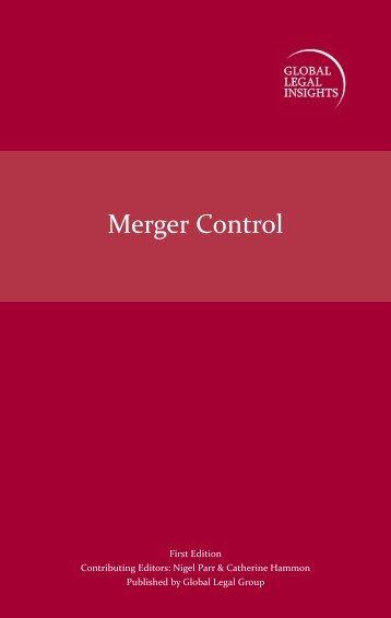 Merger Controls First Edition - J Sagar Associates