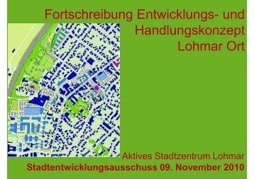 Fortschreibung Entwicklungs- und ... - Stadt Lohmar