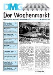 Der Wochenmarkt Nr. 13/Juni´00 - eckpunkt