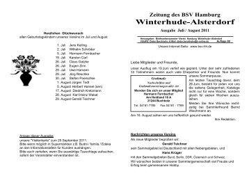 Zeitung Juli/August 2011 - des Briefmarkensammler-Vereins ...