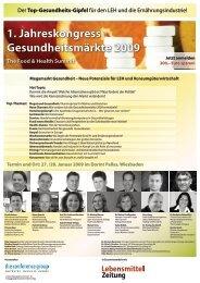 1. Jahreskongress Gesundheitsmärkte 2009 - The Conference ...