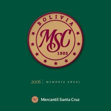índice - Banco Mercantil Santa Cruz