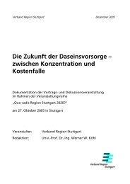Die Zukunft der Daseinsvorsorge - Verband Region Stuttgart