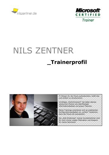Trainerprofil - Nils Zentner