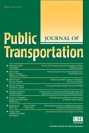 Volume 14, No. 2, 2011 - National Center for Transit Research ...