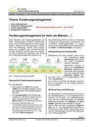 Thema: Forderungsmanagement Forderungsmanagement ist mehr ...