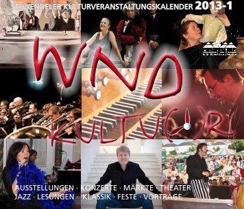 10. Kulturwoche 2013 Reflexion(en) - Stadt St. Wendel