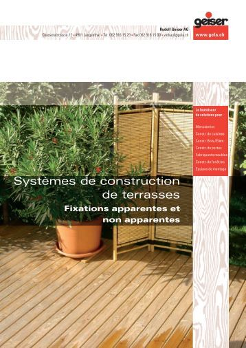 Brochure sur la construction de terrasses