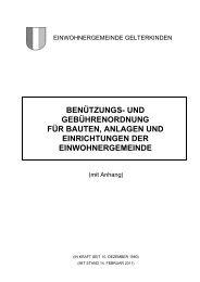Benützungs- und Gebührenordnung für Bauten ... - Gelterkinden