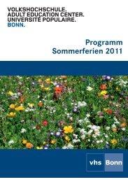 Sommerprogramm 2011