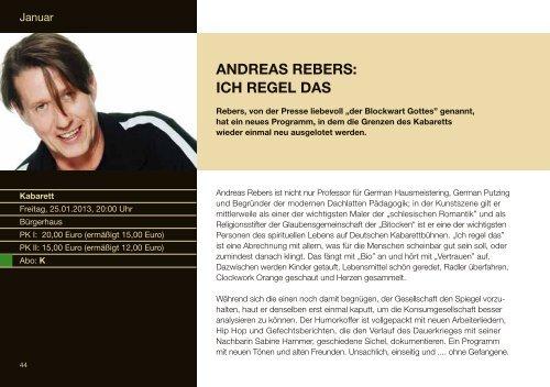 Download Programmheft 2012 - Bürgerhaus Unterföhring