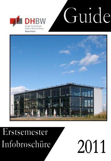 Ersti-Guide 2011 - Studierendenvertretung - DHBW Mannheim