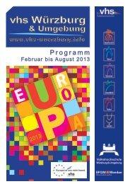 Programmheft 1 / 2013 - VHS Würzburg