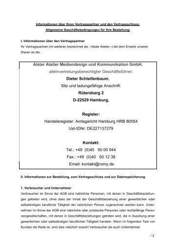 Alster Atelier Mediendesign und Kommunikation GmbH ...