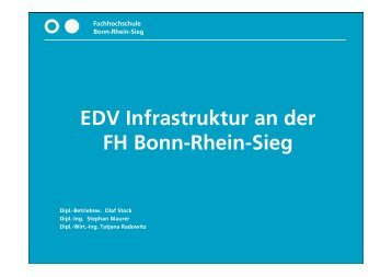 EDV Infrastruktur an der FH Bonn-Rhein-Sieg