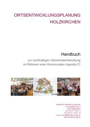 ORTSENTWICKLUNGSPLANUNG HOLZKIRCHEN Handbuch