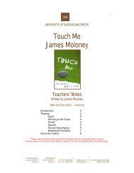 Touch Me James Moloney - University of Queensland Press