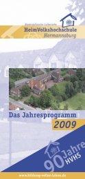 Das Jahresprogramm HVHS - HVHS Hermannsburg