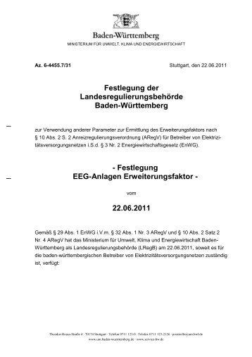 Festlegung der LRegB zu EEG-Anlagen - Versorgerportal Baden ...