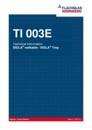 Technical Information SIGLA walkable / SIGLA Trep - FLACHGLAS ...