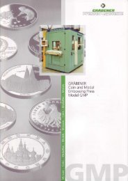 GRABENER Coin and Medal Embossing Press ... - Retecon.co.za