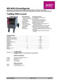 MIG-MAG-Schweißgeräte TopMag 2500 kompakt