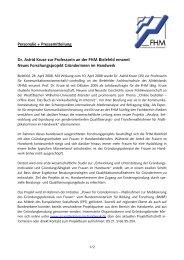 Personalie + Pressemitteilung Dr. Astrid Kruse zur Professorin an ...