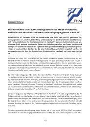 Pressemitteilung - Fachhochschule des Mittelstands (FHM)