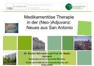 Medikamentöse Therapie in der (Neo )Adjuvanz: in der (Neo ...