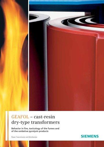 GEAFOL – cast-resin dry-type transformers - Siemens Energy