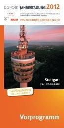 Jahrestagung 2012 Vorprogramm - Schweizerische Gesellschaft für ...