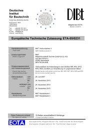 ETA-05/0231 - MKT Metall-Kunststoff-Technik GmbH & Co. KG
