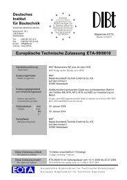 Europäische Technische Zulassung ETA-99/0010 - EJOT