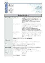 Anthrax (Milzbrand) - Labor Clotten