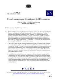 EN Council conclusions on EU relations with EFTA countries - Europa