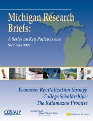 efs·· - Center for Local, State, and Urban Policy - University of Michigan