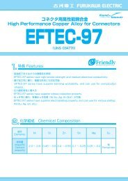 High Performance Copper Alloy for Electrical Connectors EFTEC-97