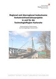 Verkehrspolitisches Positionspapier - TechnologieRegion Karlsruhe