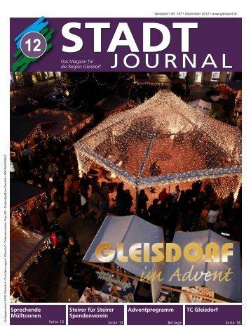 Dezember-Ausgabe - Stadtgemeinde Gleisdorf