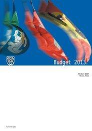Budget 2013. - Gemeinde Lyss