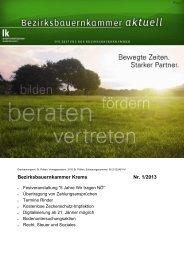 Aktuelles Rundschreiben - Landwirtschaftskammer Niederösterreich