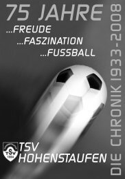 D IE C H R O N IK 19 3 3 -2 0 0 8 - TSV Hohenstaufen