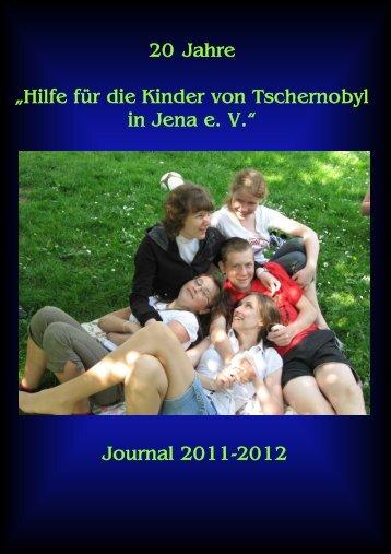 """20 Jahre """"Hilfe für die Kinder von Tschernobyl in Jena e. V."""" Journal ..."""