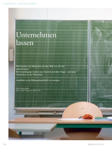 brandeins_Unternehmen lassen_08_12 - NFTE Deutschland
