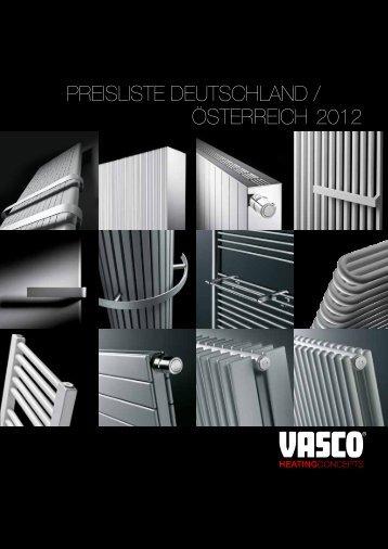 2012 Österreich PreisListe DeUtschLAND / - Vasco